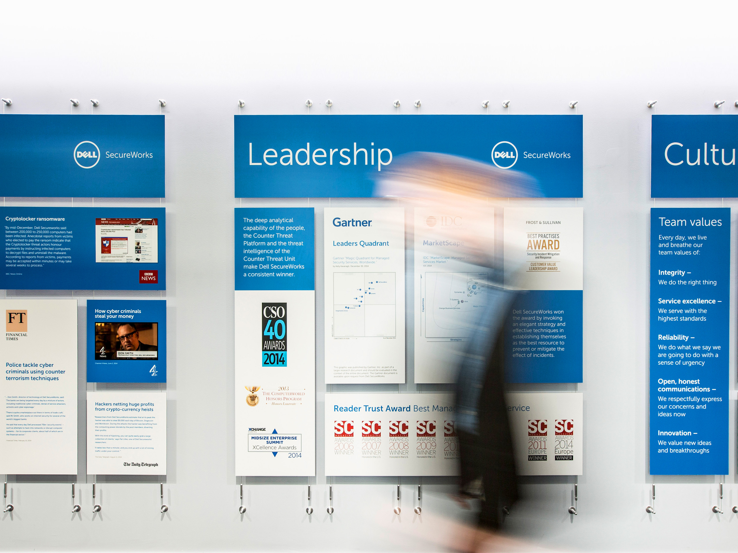 Dell Secureworks - Environmental & Experiential Design - Wall of Fame
