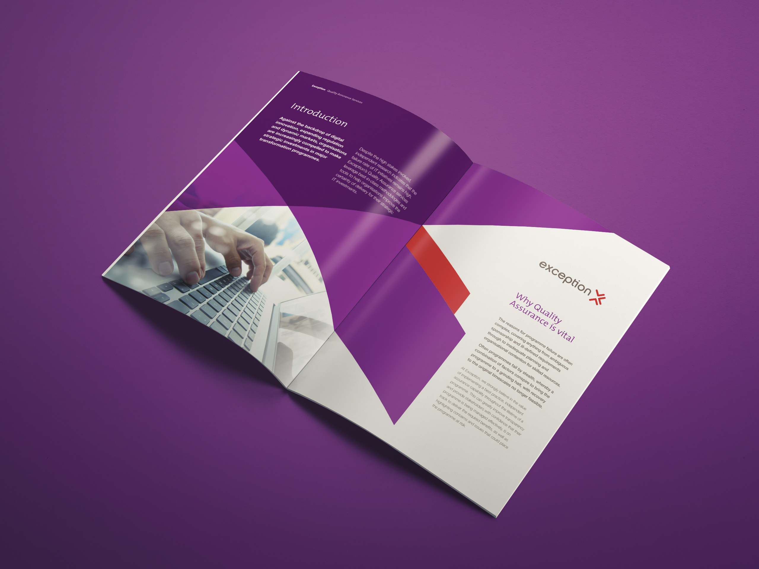 Exception UK - A4 Brochure - Print Design